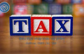 biểu thuế nhập khẩu mỹ phẩm