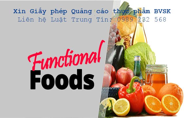 giấy phép quảng cáo thực phẩm bảo vệ sức khỏe