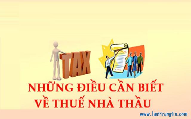 quy định về thuế nhà thầu