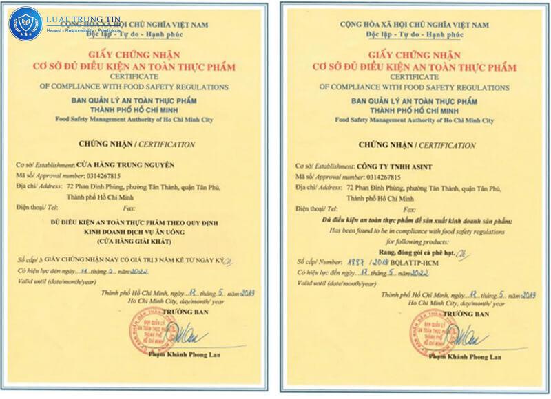 Các giấy tờ cần thiết đăng ký công bố cho chất lượng thực phẩm an toàn